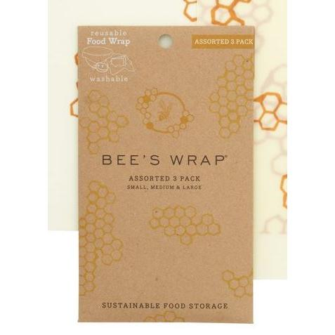 Food Saver Wax Bees Wrap 3 Piece Pack (small & Medium & Large)