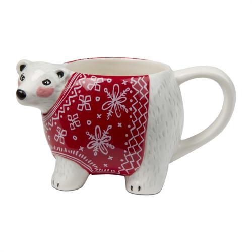 Seasonal Mug Cozy Bear 18oz