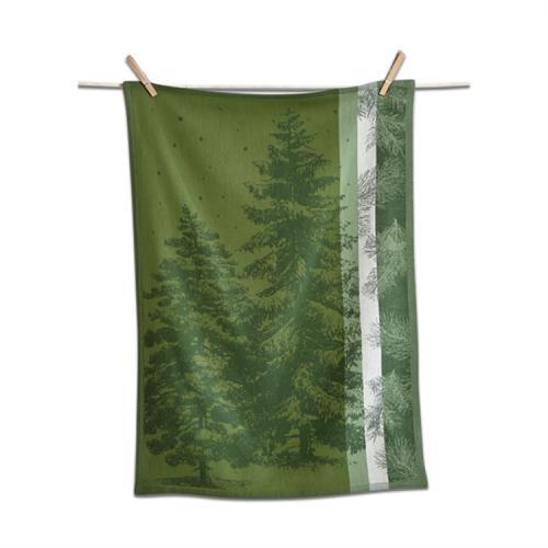 Dishtowel jacquard evergreen