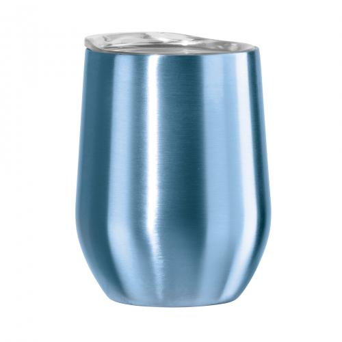 Travel Tumbler-stemless Stainless Steel Cheers 12oz Blue-cool