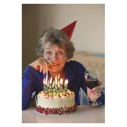 Birthday - Older Woman With Cake