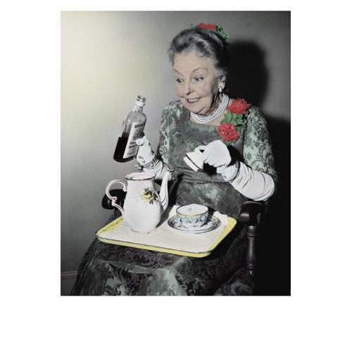 Birthday - Woman Pouring Whiskey In Teapot