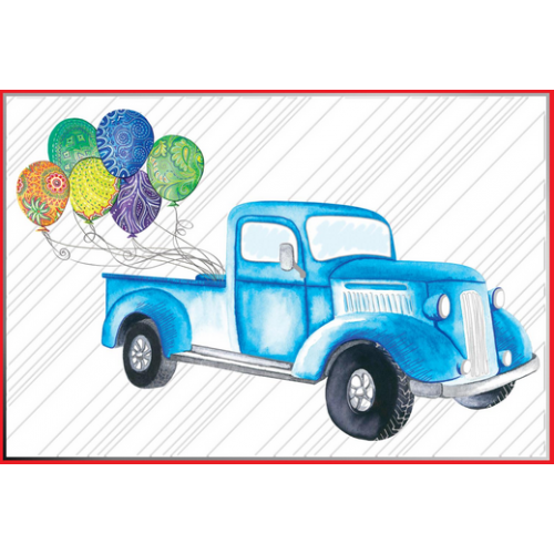 Birthday - Truck And Balloons