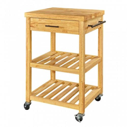 Kitchen Cart Symon Natural Rubberwood