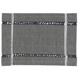 Placemat Tangier Knotted Black