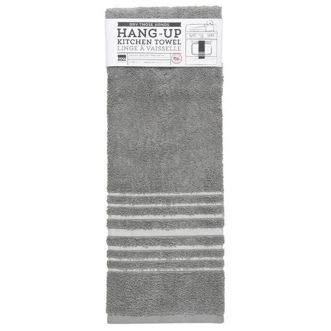 Oven Towel Hang-up Solid Gray-london