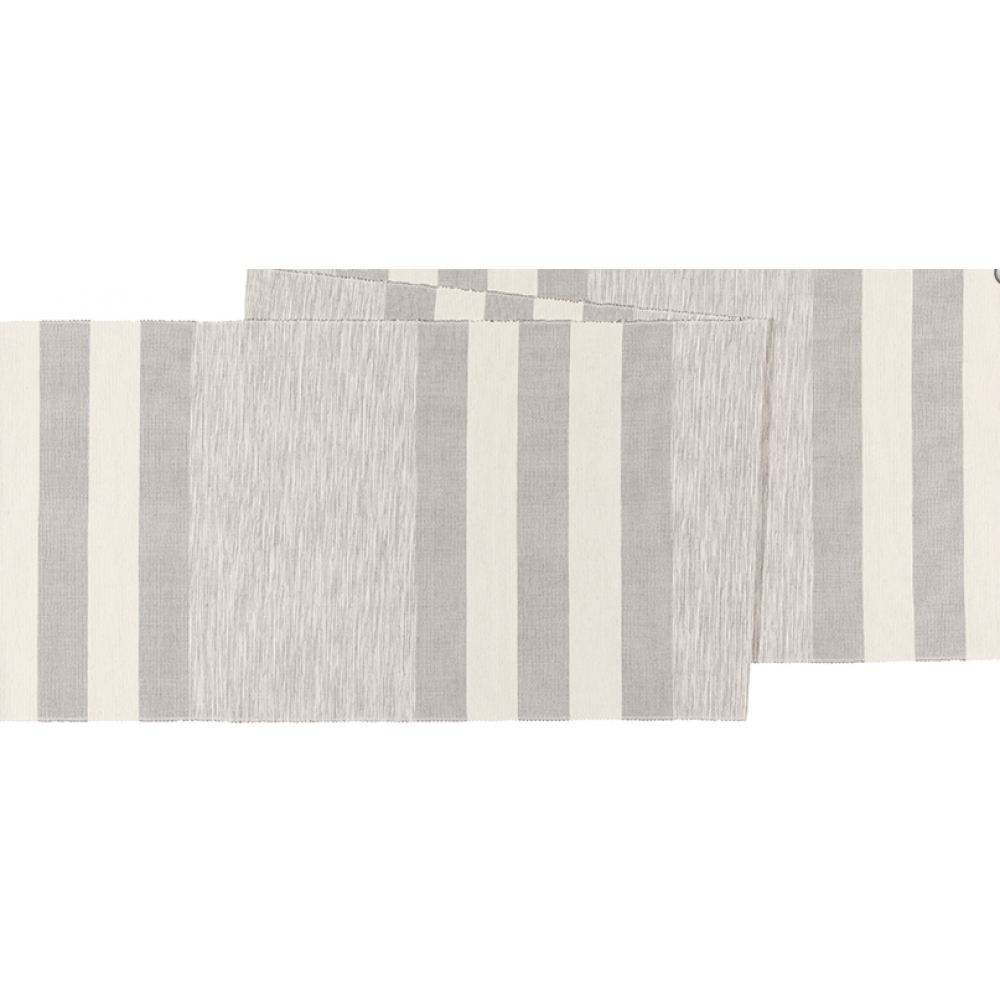 Table Runner Twisted Yarn Cobblestone Gray