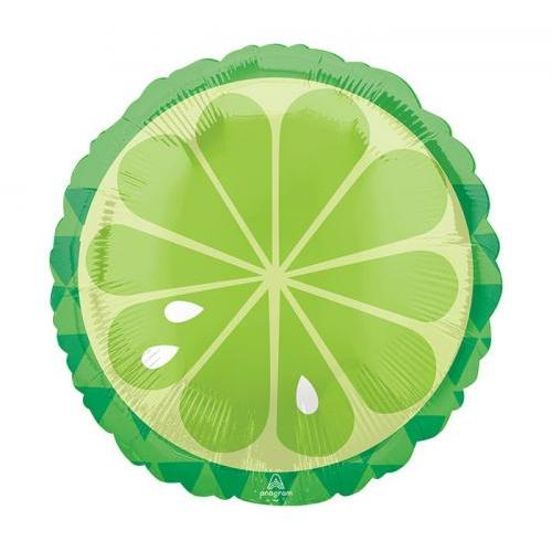 Balloon Shaped Lime Tropical 17in