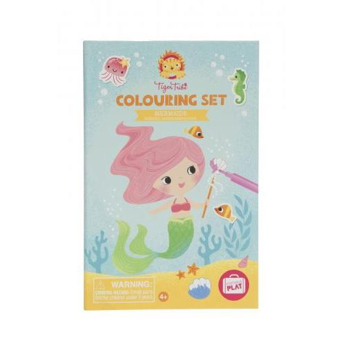 Colouring Set Mermaid ( Includes 36 Pages, 5 Sticker Sheets And 10 Markers )