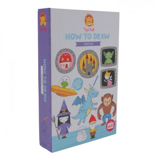 How To Draw Fantasy ( Includes 10 Pencils, Sharpener, Eraser And 36 Page Sketch Pad )