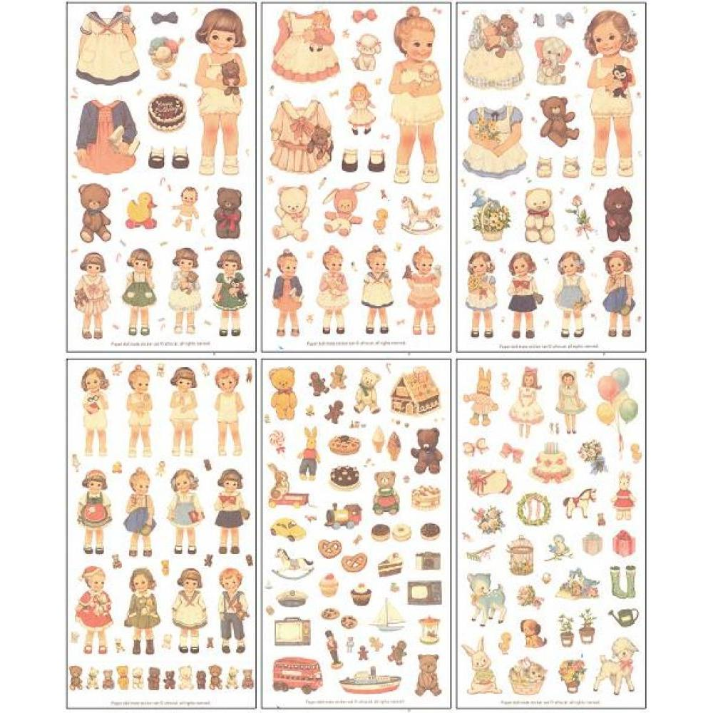Stickers - Paper Classic Doll Dress Up