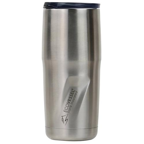 Travel Mug Insulated Stainless Steel Metro Silver 16oz