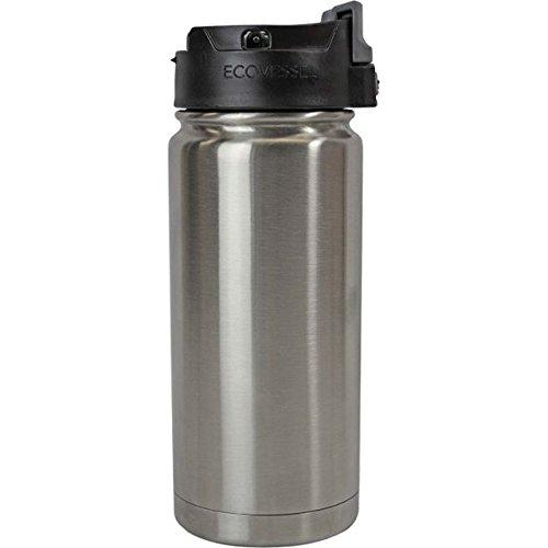 Travel Mug Insulated Stainless Steel Perk Silver 16oz