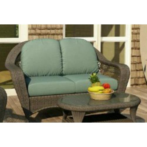 Charleston Outdoor Wicker Loveseat Willow