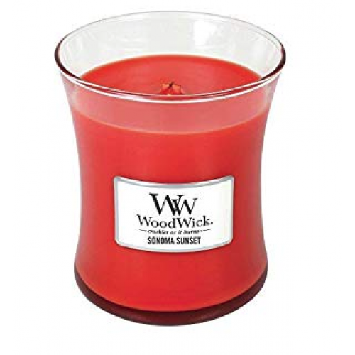 Woodwick Mini Candle Jar Sonoma Sunset 3oz 20 Hour Burn Time