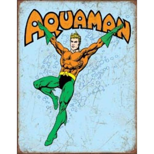 Tin Sign - Aquaman Retro
