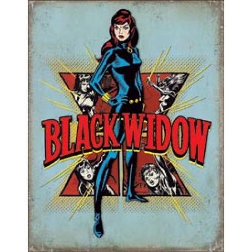 Tin Sign - Black Widow