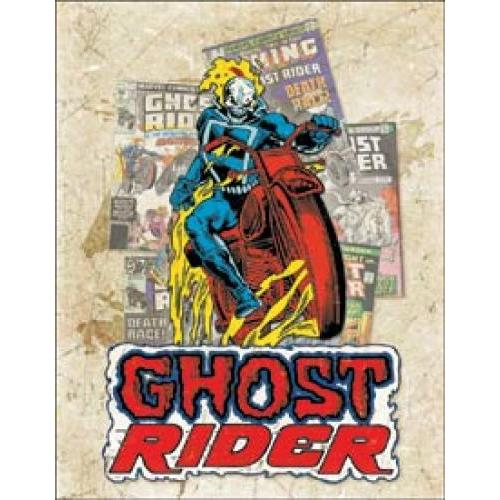 Tin Sign - Ghost Rider Cover Splash