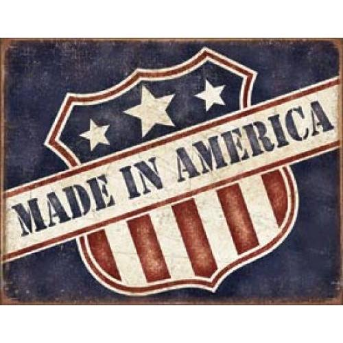 Tin Sign - Made In America