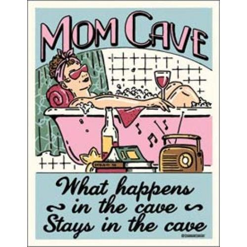 Tin Sign - Mom Cave