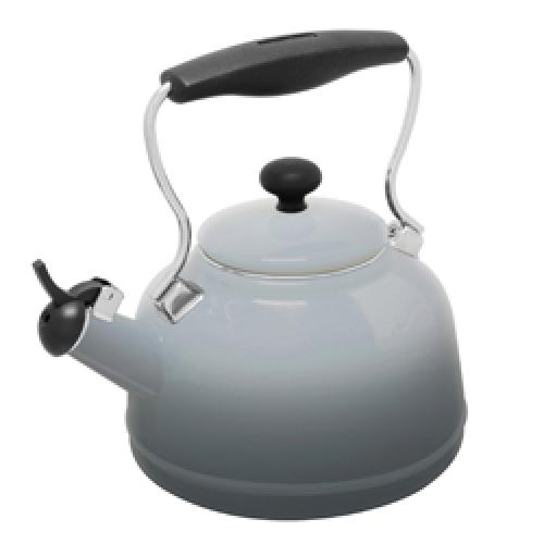 Tea Kettle Enamel-on-steel Lake 1.7 Qt Fade Grey