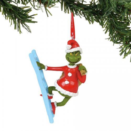 Ornament - Grinch On A Ladder