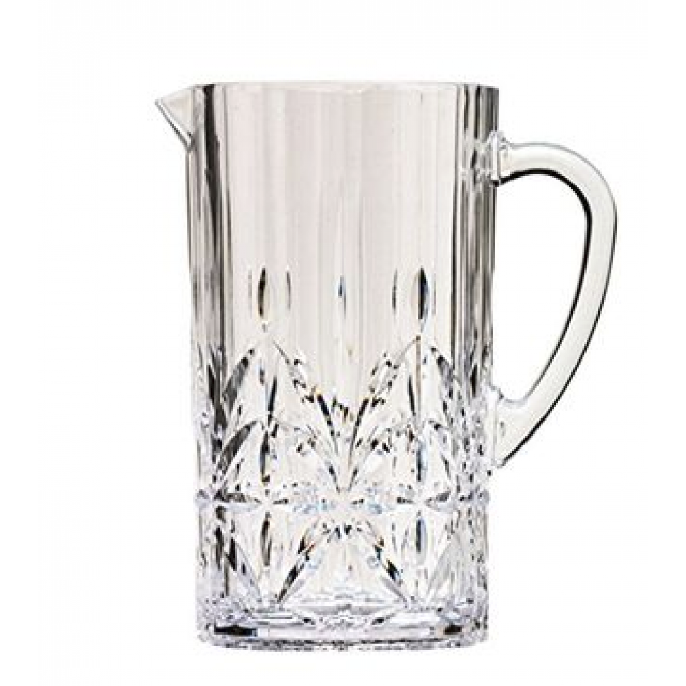 Acrylic Drinkware Unbreakable Royal  Etched Tumbler Pitcher With Top
