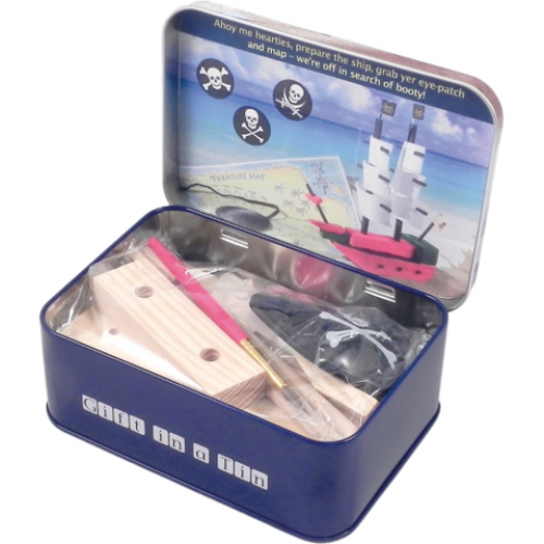 Make Your Own Pirate Ship - Gift In A Tin