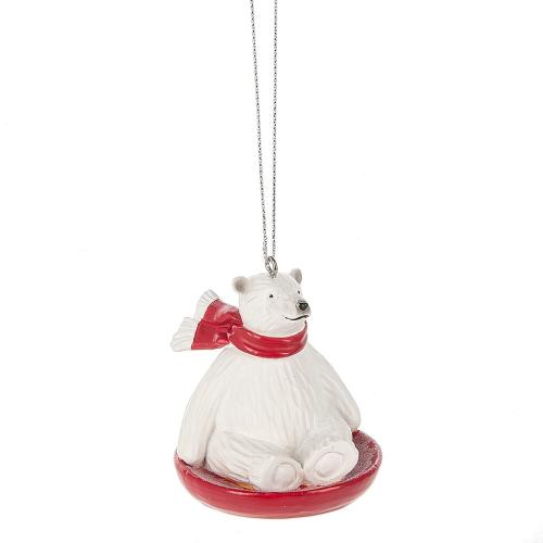 Ornament - Polar Bear Sledding