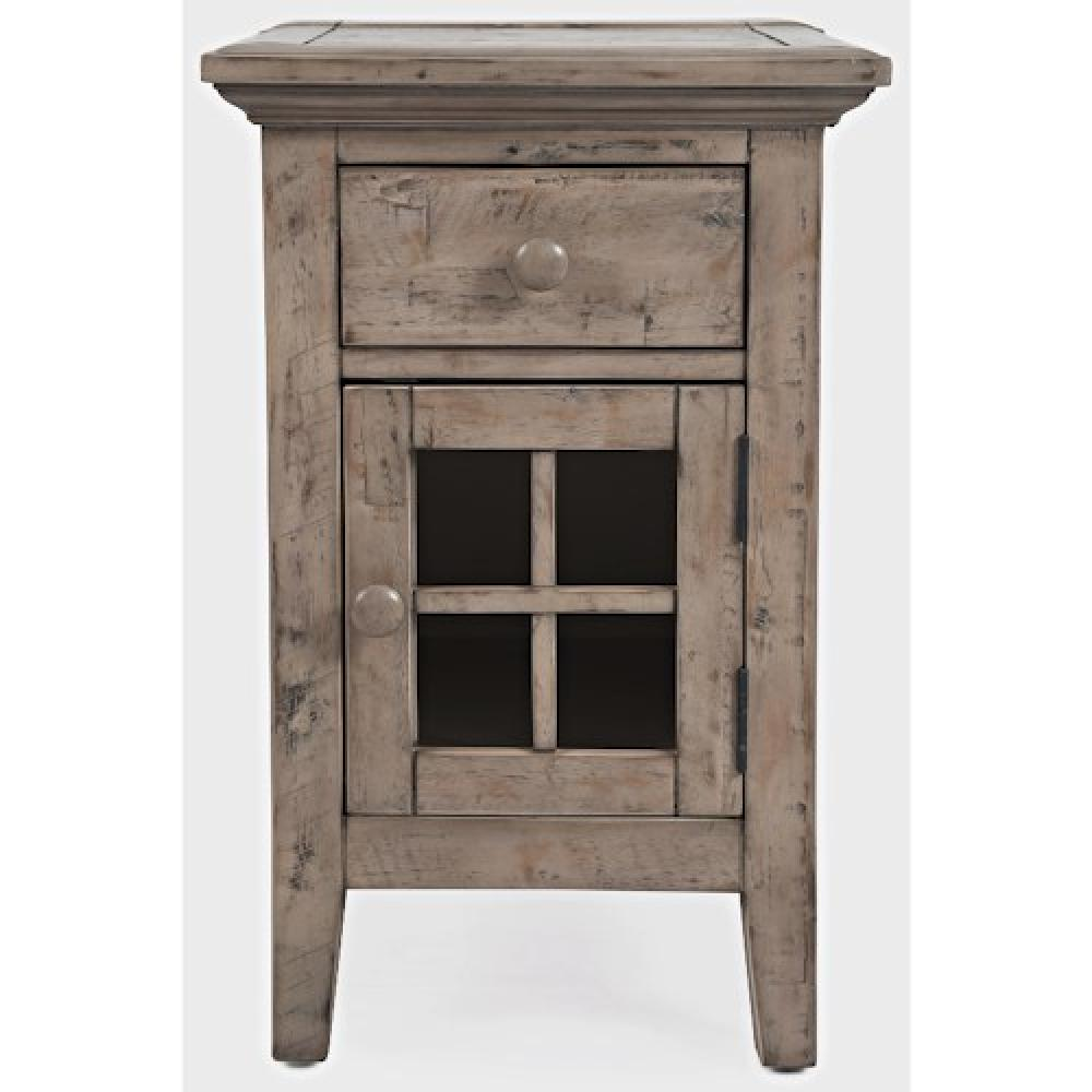 Rustic Shores Chairside Table Watch Hill Weathered Grey