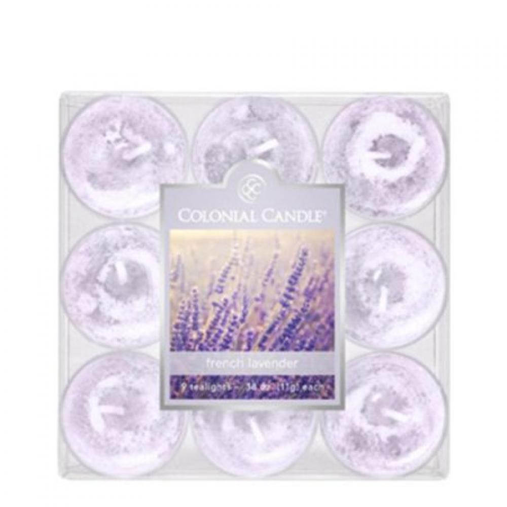 Tea Light Candle Pack Of 9 French Lavender