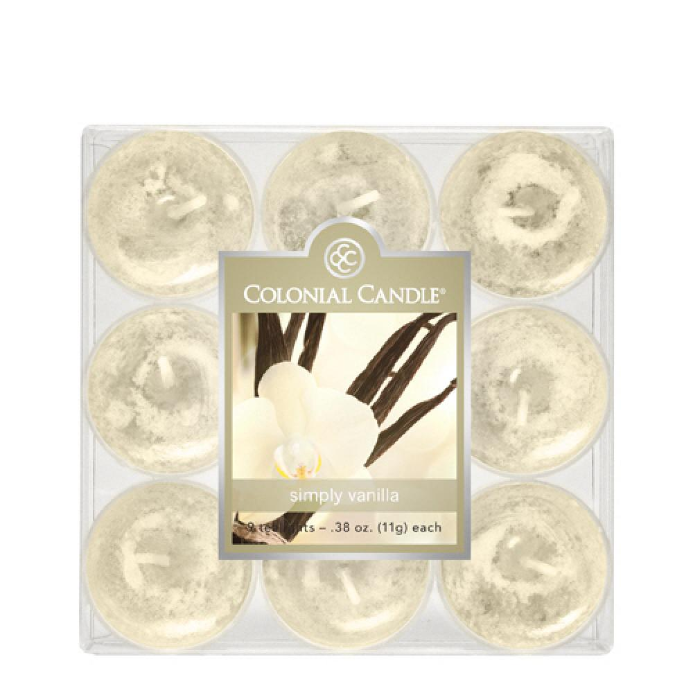 Tea Light Candle Pack Of 9 Simply Vanilla