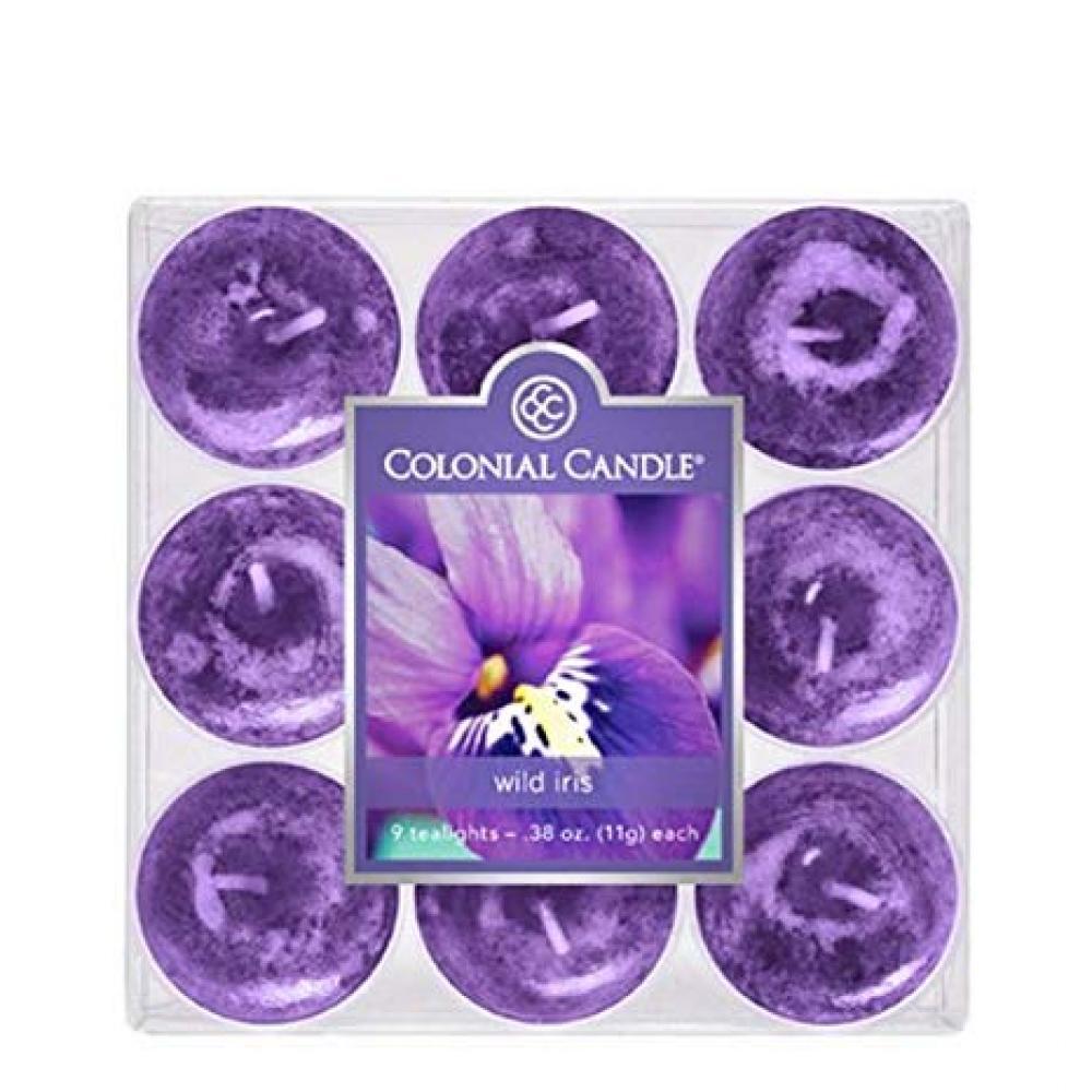 Tea Light Candle Pack Of 9 Wild Iris