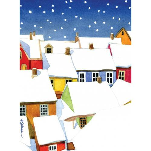 Boxed Card - Christmas - Snowy Village