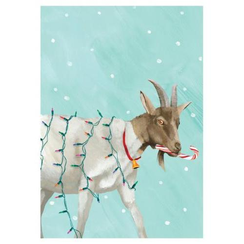 Boxed Card - Christmas - Goat Christmas