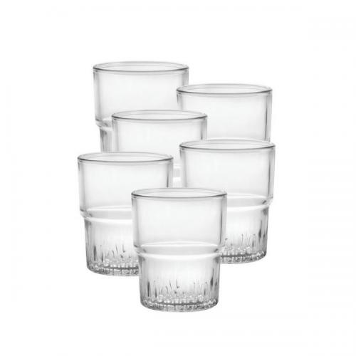 Drinkware Glass Tumbler Stacking Empilable 7oz Dof