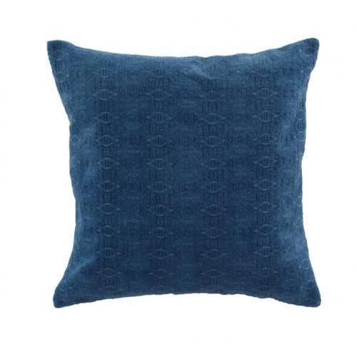 Pillow Cotton Velvet Blue 20in X 20in