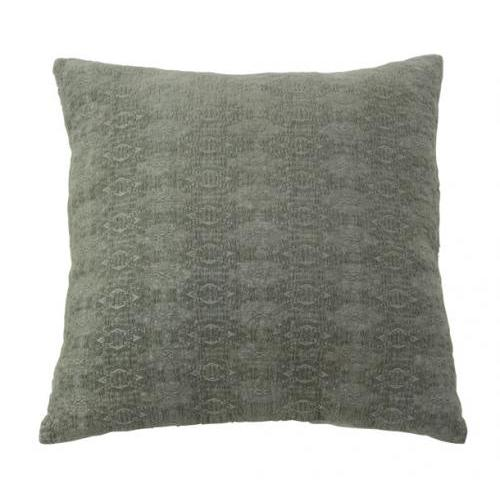 Pillow Cotton Velvet Dark Grey 18in X 18in