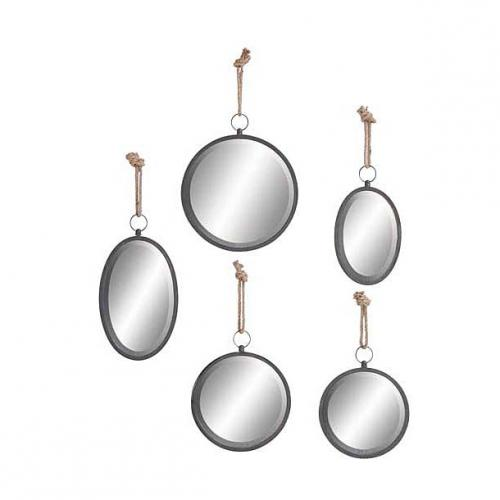 Mirror Metal And Rope 18in-19.99 20in-24.99 22in-29.99 23in-34.99 (set Sold Separately)