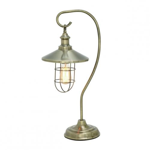 Lamp Lantern With Cage Edison Style 23in High