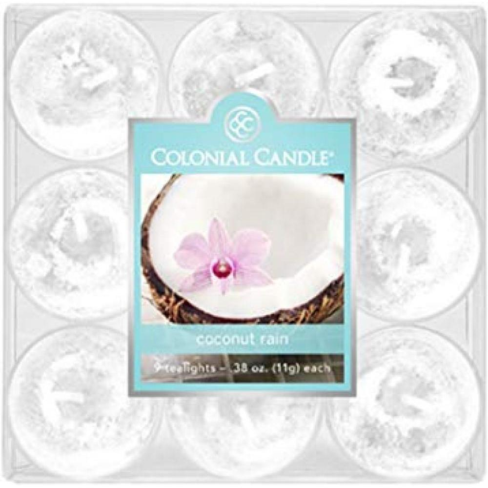 Tea Light Candle Pack Of 9 Coconut Rain