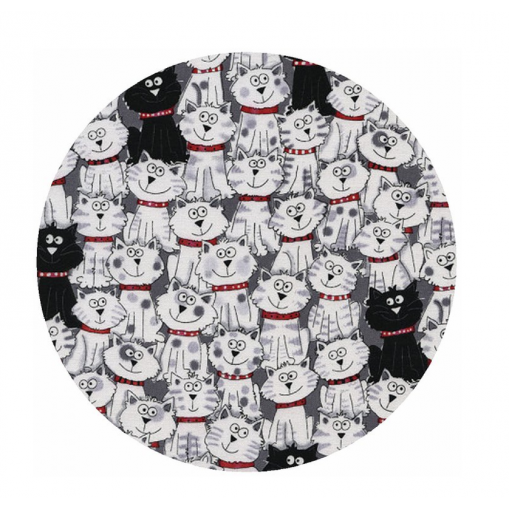 Jar Opener Silicone Pattern - Cats 6in