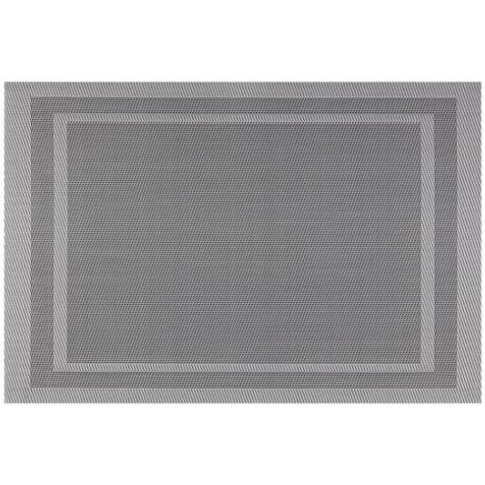 Placemat - Everytable - Double Border Gray