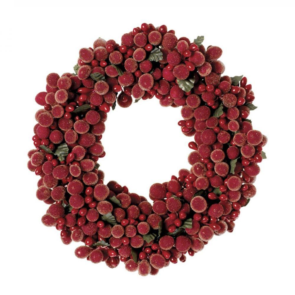 Candle Ring - Beaded Berry 6in ( Seasonal Item Call For Availability )