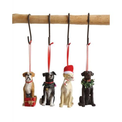 Seasonal Ornament Dog 4 Assorted