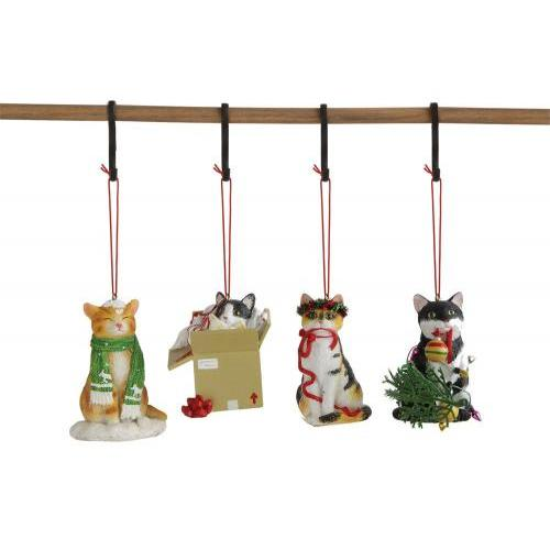 Seasonal Ornament Cat 4 Assorted