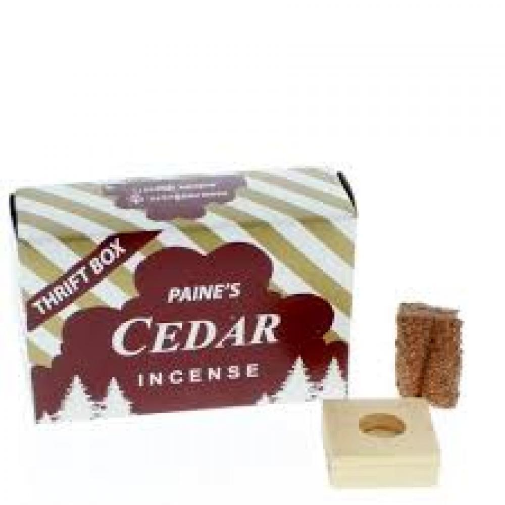 Incense Cones w/ Holder 50pc - Cedar