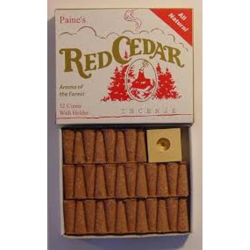 Incense Cones w/ Holder 32pc - Red Cedar