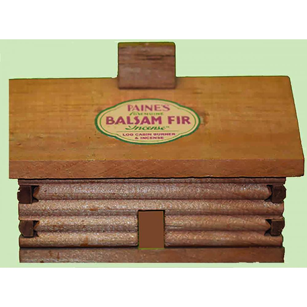 Incense Burner Log Cabin Medium 4x3.5x3in