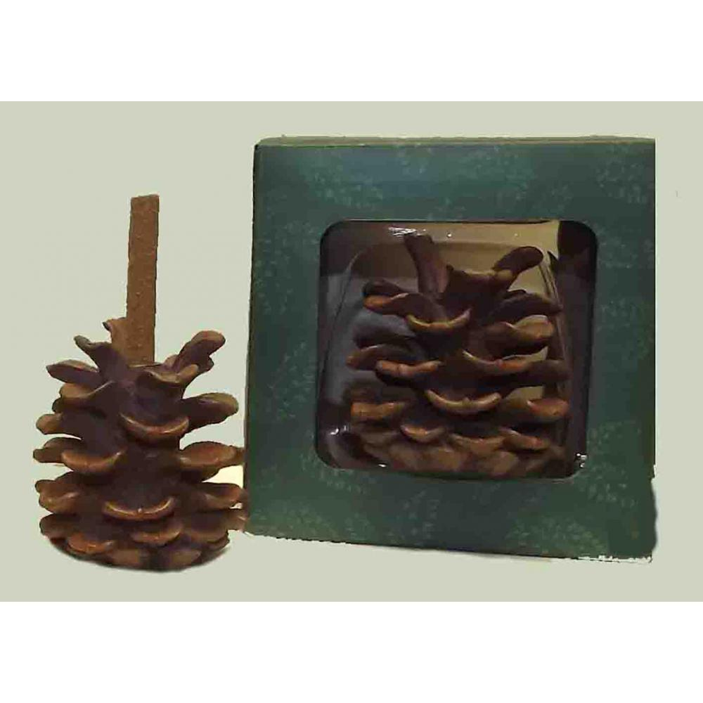 Incense Burner w/ 12 Balsam Sticks - Pine Cone